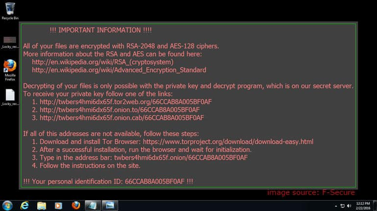 Tanda terkena Ransomware Wanna Cry