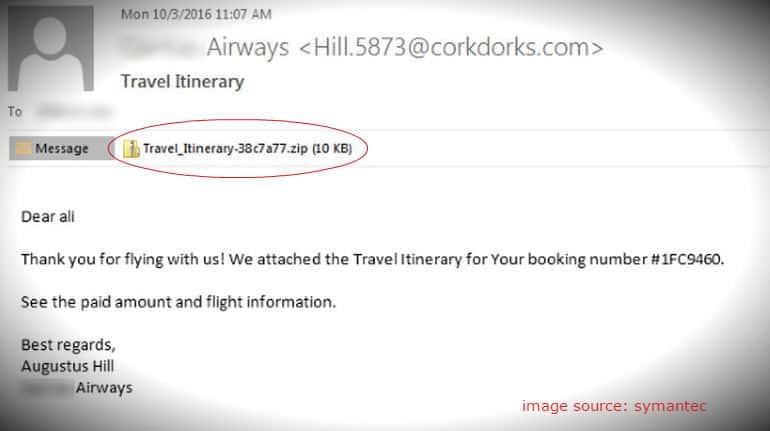 email palsu dari ransomware wannacry