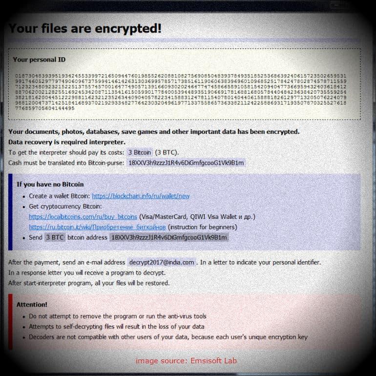 hacker minta tebusan ransomware dengan bitcoin