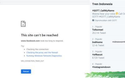 Internet Down Hari Ini, Telkomsel, Indihome Topic Trending