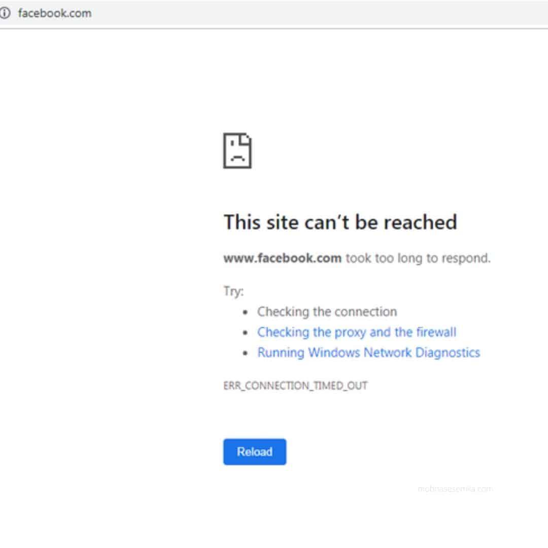 facebook tidak bisa di akses hari ini